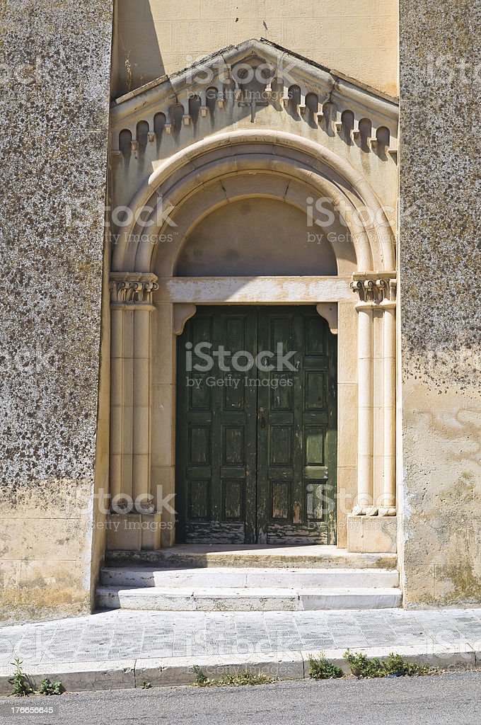 Church of St. Francesco. Manfredonia. Puglia. Italy. royalty-free stock photo