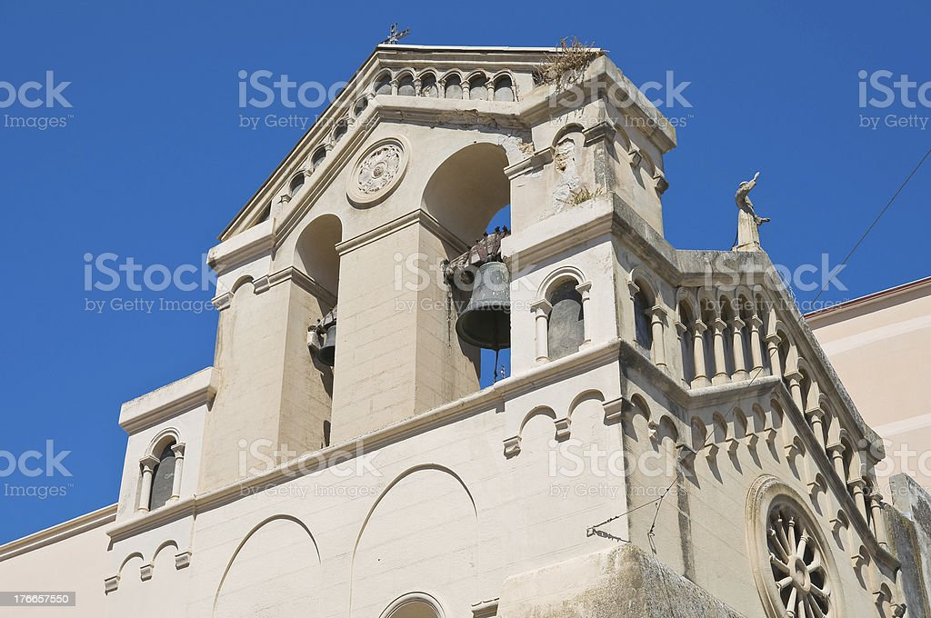 Church of St. Francesco. Manfredonia. Puglia. Italy. royalty-free stock photo