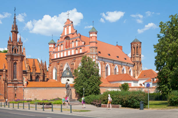 Church of St. Francis and St. Bernard in Vilnius stock photo