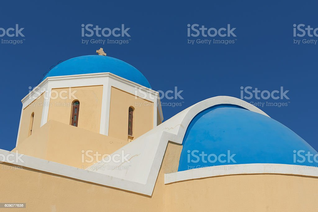 Church of St. George. Santorini. stock photo