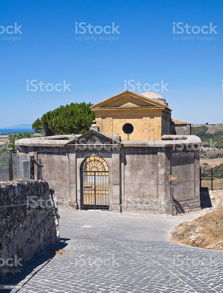 Church of St. Giacomo. Tarquinia. Lazio. Italy. stock photo