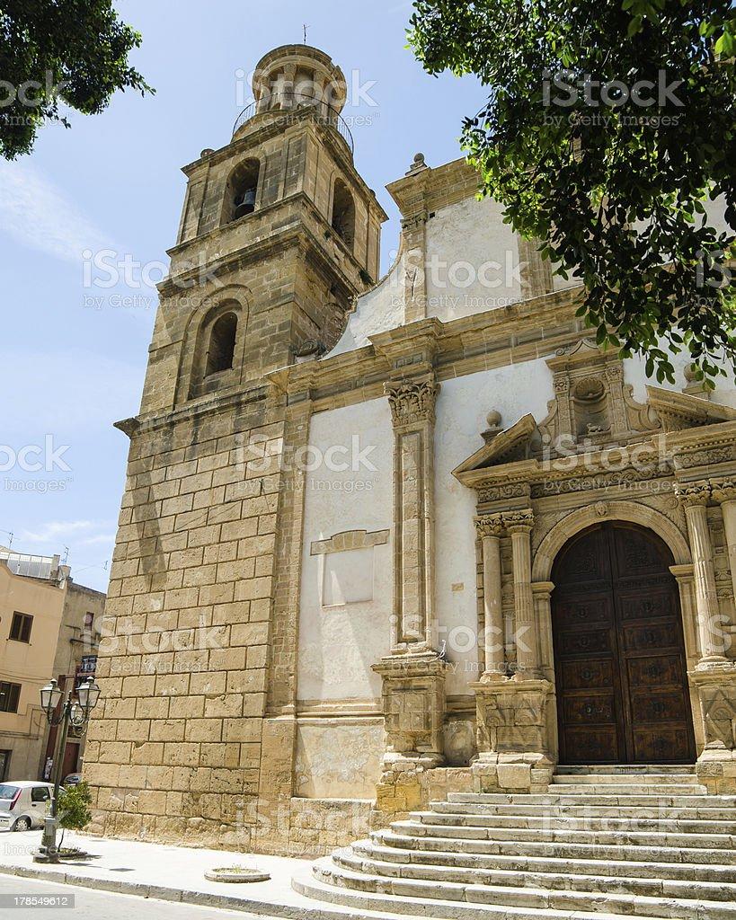 Church of St. Giovanni Batista in Castelvetrano, Sicily royalty-free stock photo