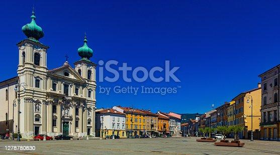 istock Church of St. Ignatius on Victory Square, Gorizia, Italy 1278780830
