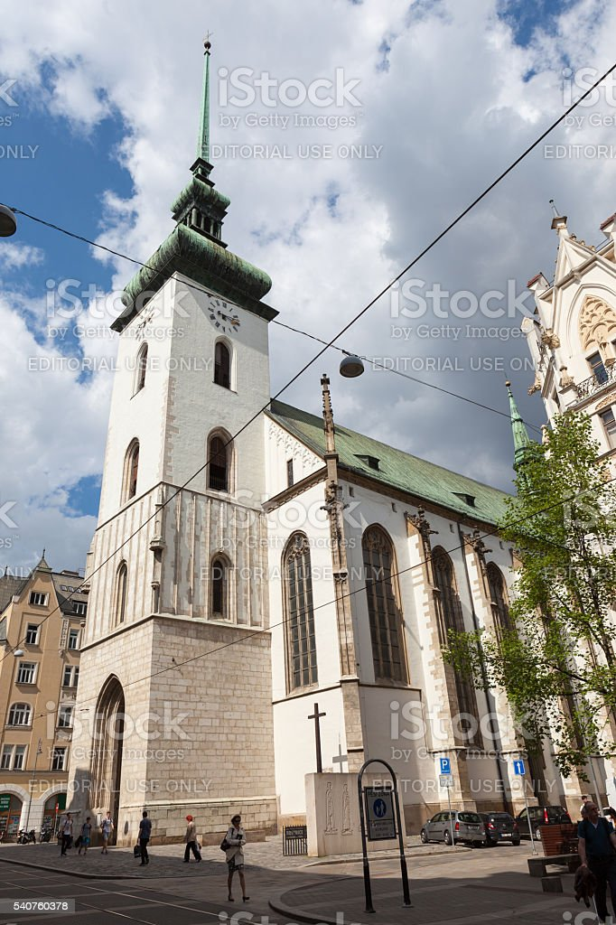 Church of St. James, Brno. stock photo