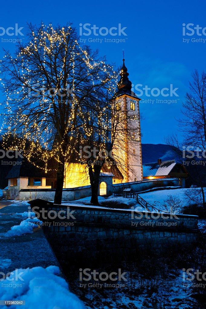 Church of St. John, Bohinj royalty-free stock photo