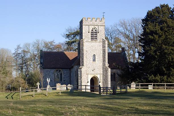 Church of ST. JOHN, FARLEIGH WALLOP stock photo