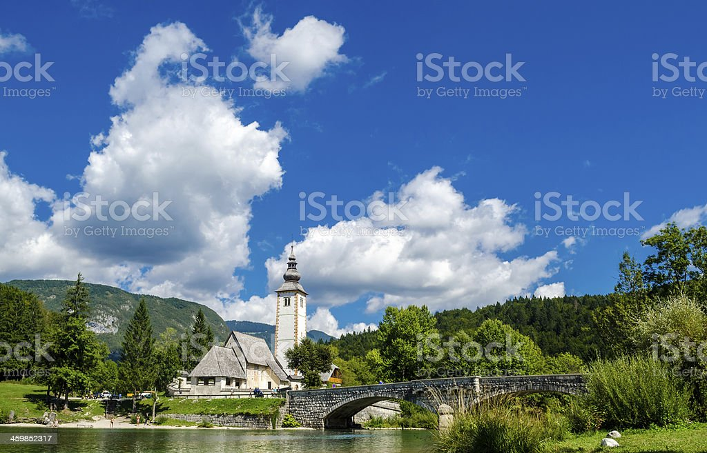 Church of St John the Baptist, Bohinj Lake, Slovenia1 stock photo