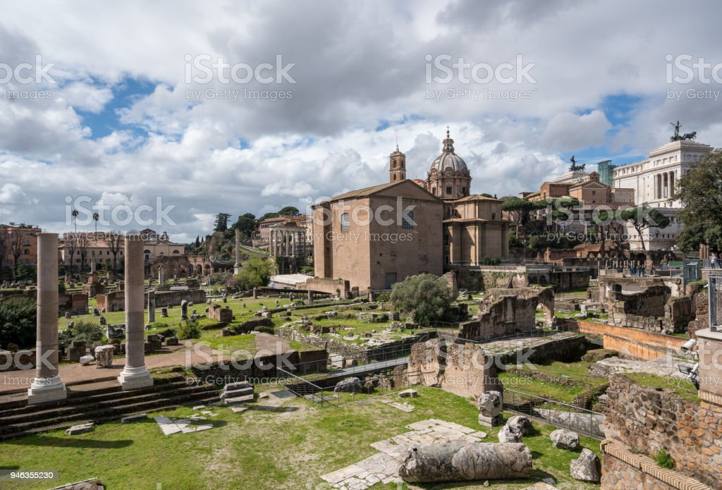 Church of St Luca and St Martina in Rome stock photo