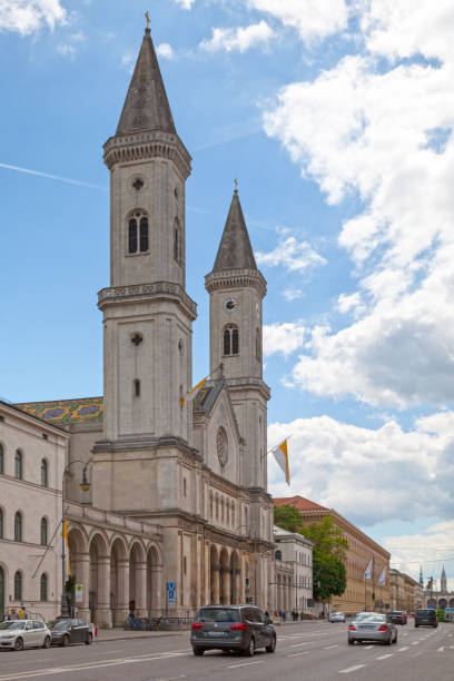 Church Of St. Ludwig in Munich stock photo