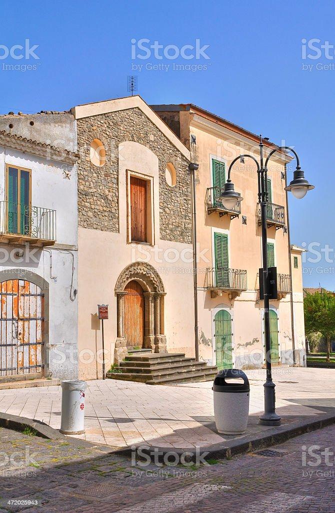 Church of St. Maria la Nova. Melfi. Basilicata. Italy. royalty-free stock photo