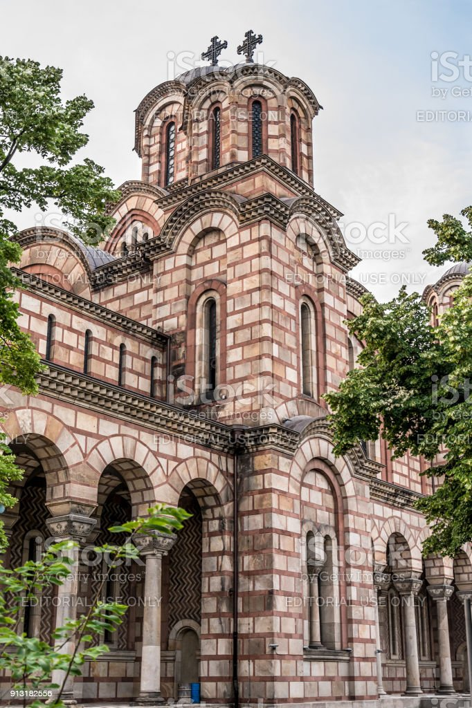 Church of St. Mark is a Serbian Orthodox church stock photo