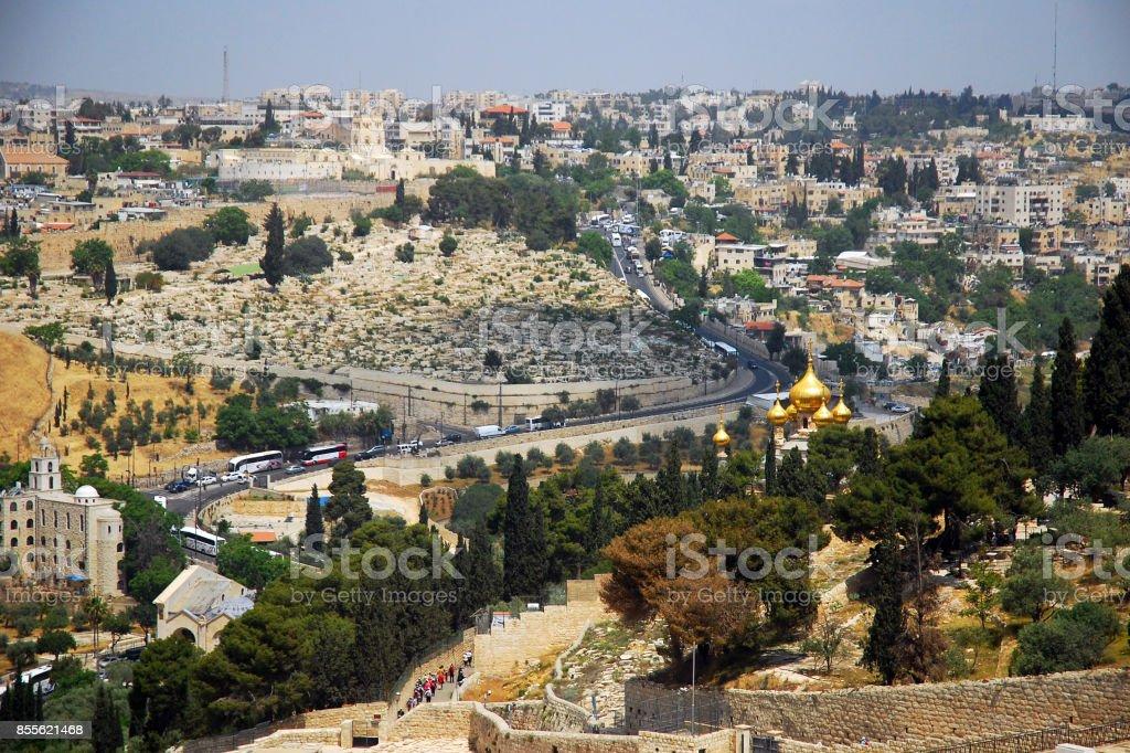 Church of St Mary Magdalene, Jerusalem stock photo