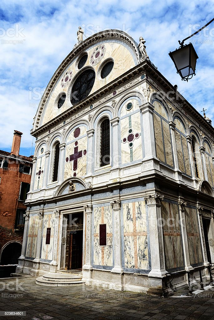 Church of St Mary of the Miracle, Venice stock photo