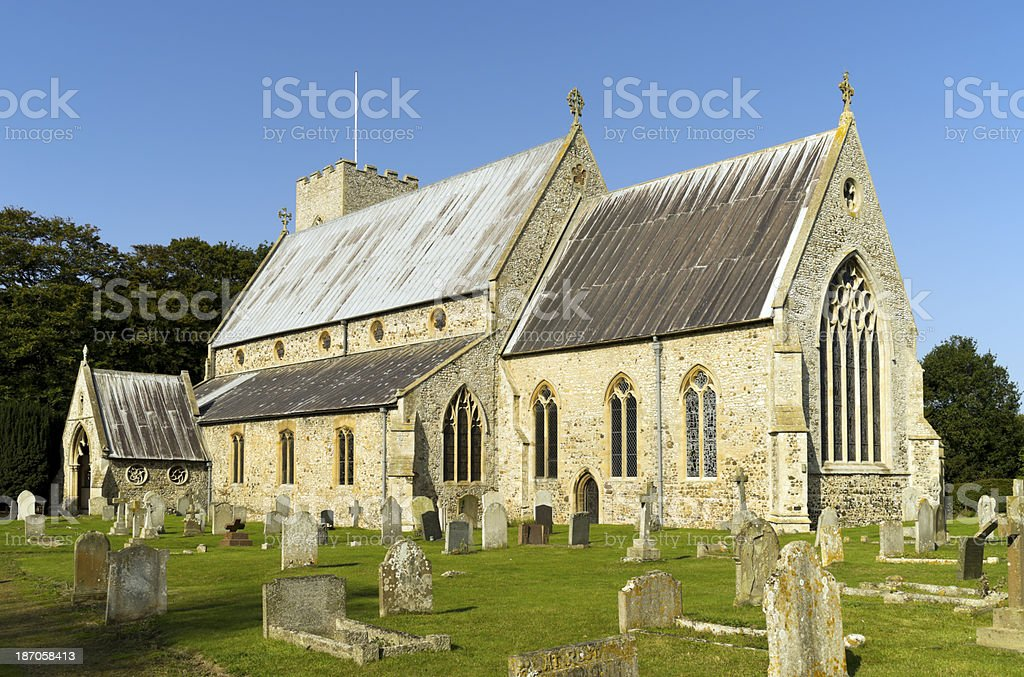 Church of St Mary, Old Hunstanton royalty-free stock photo