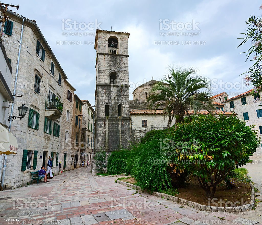 Church of St. Mary on River ('Hosanna Blessed'), Kotor stock photo