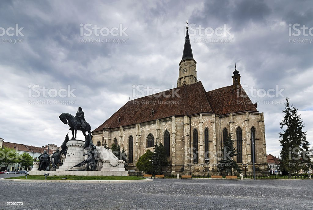 Church of St. Michael in Cluj, Transylvania, Romania stock photo