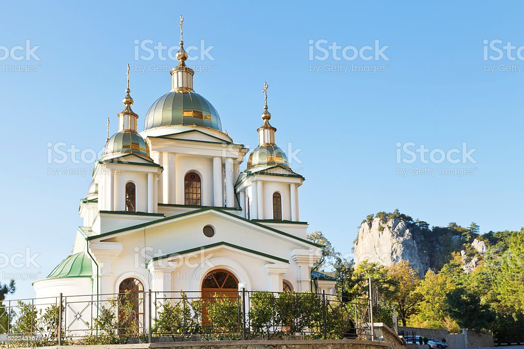 Church of St. Michael the Archangel in Oreanda stock photo