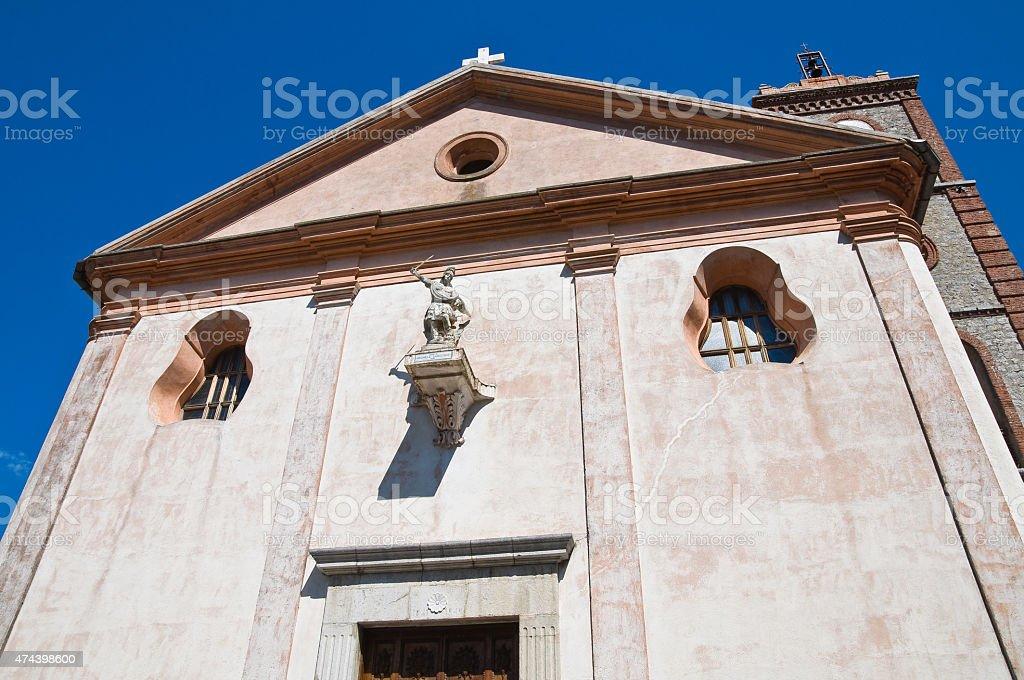 Church of St. Michele Arcangelo. Trecchina. Basilicata. Italy. stock photo