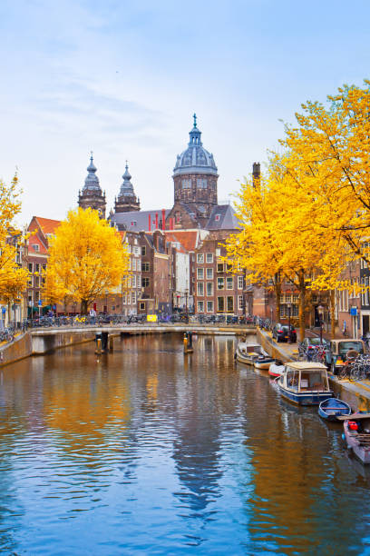 Church of St Nicholas, Amsterdam, Holland stock photo