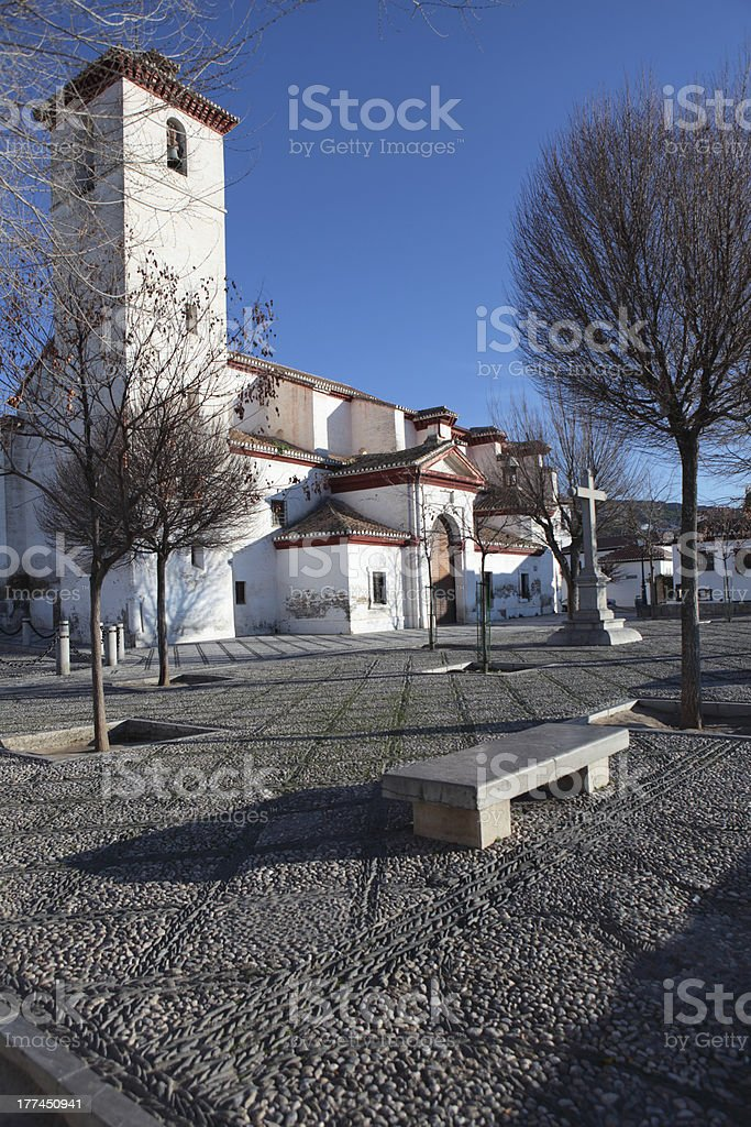 Church of St. Nicholas in Granada, Spain royalty-free stock photo