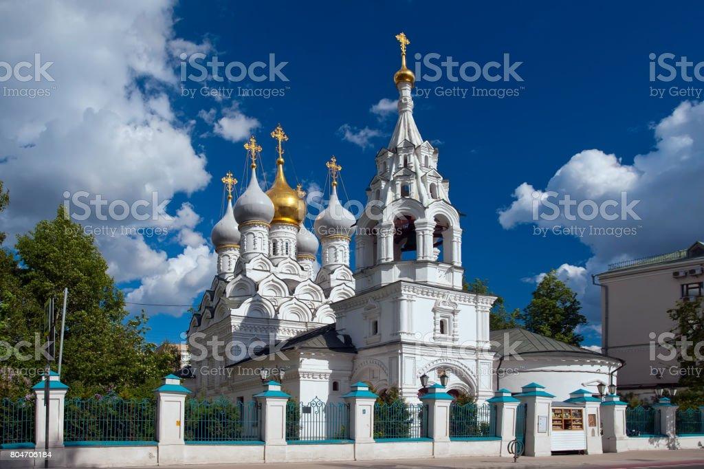 Church of St. Nicholas of Myra in Pyzhi, Bolshaya Ordynka, Moscow stock photo