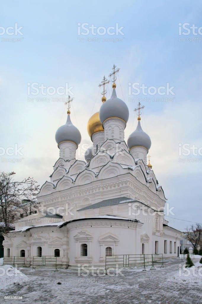 Church of St. Nicholas of Myra in Pyzhi, Malaya Ordynka. Moscow stock photo
