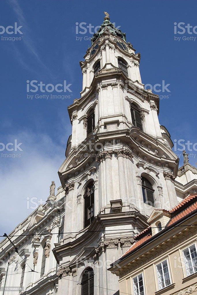Church of St. Nicholas , Prague royalty-free stock photo
