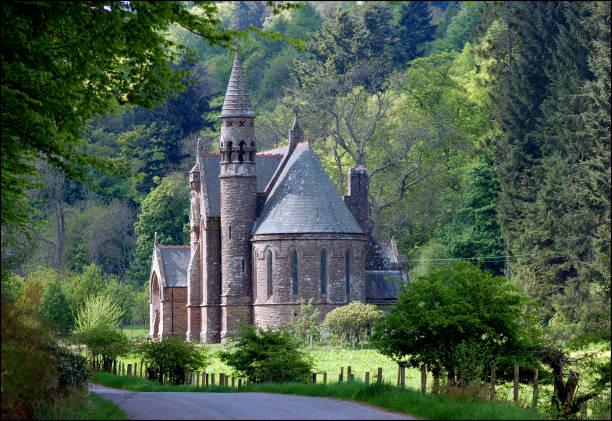 Church Of St Palladius Glen Of Drumtochty Scotland Stock
