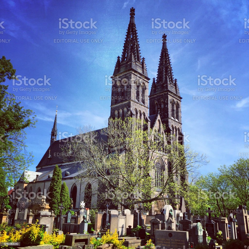 Church of St. Peter and Paul at Vysehrad, Prague stock photo