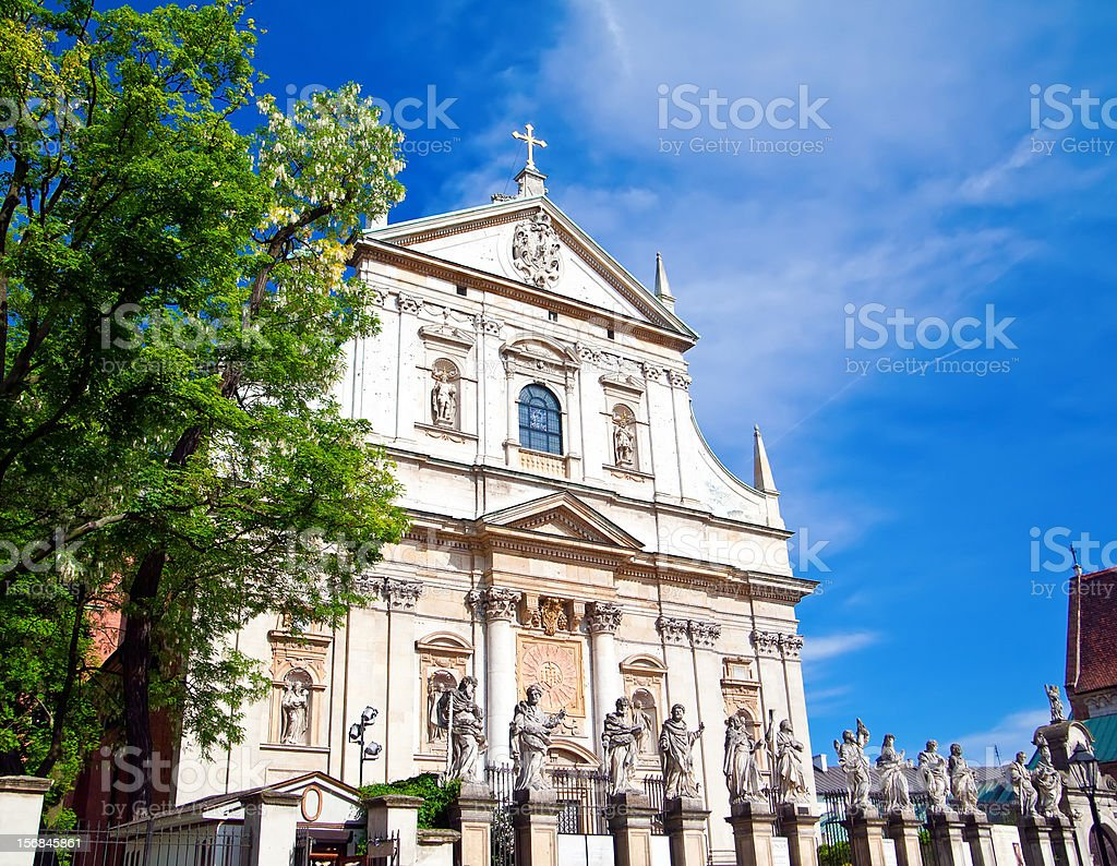 Church of St Peter and Paul in Krakow stock photo