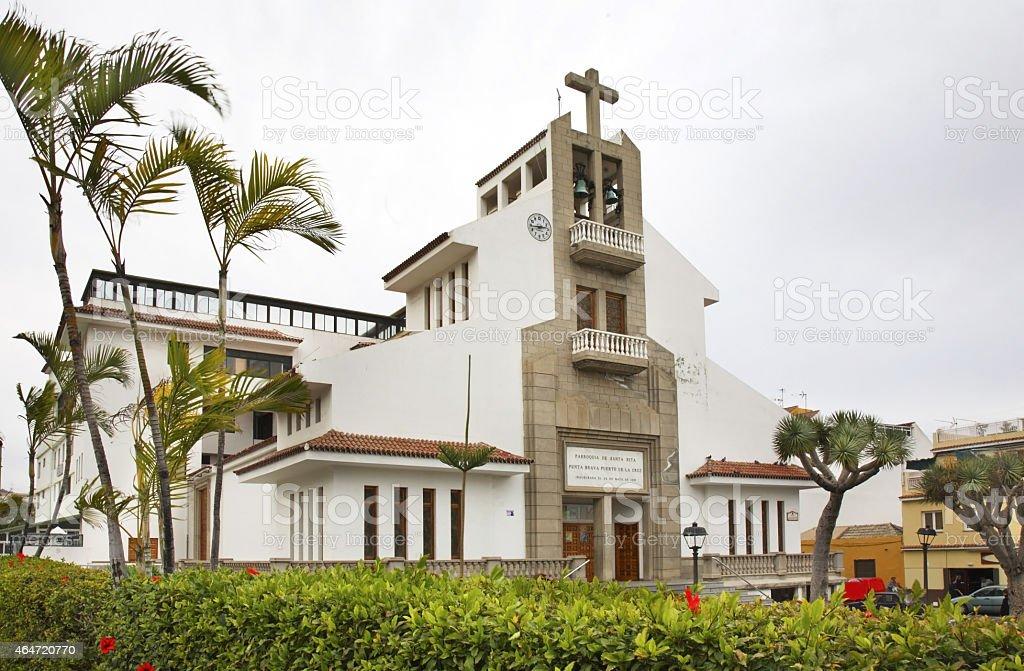 Church of St. Rita In Punta Brava. Tenerife stock photo