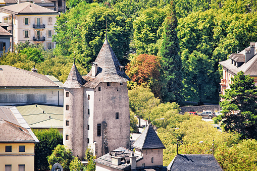 Church of St Theodule and surroundings in Sion Valais Switzerland