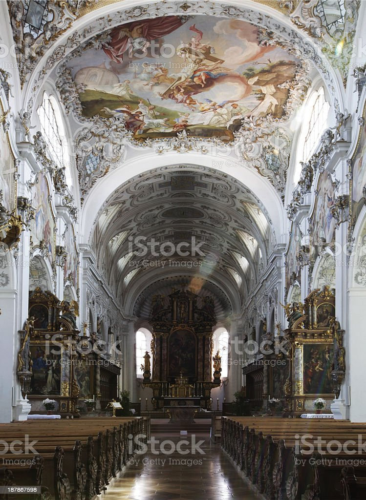 church of Steingaden royalty-free stock photo