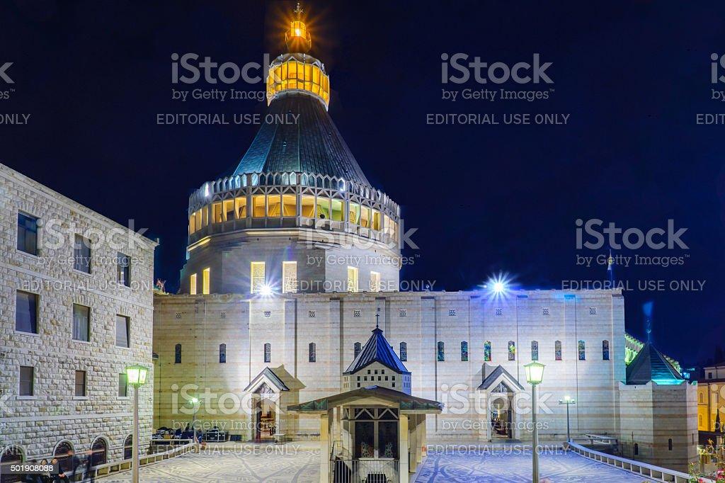 Church of the Annunciation, Nazareth stock photo