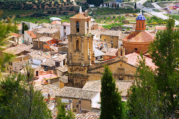 Church of the Assumption in  Calaceite,  Teruel stock photo