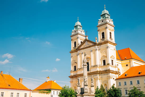 Church of the Assumption of the Virgin Mary in Valtice, Czech Republic Church of the Assumption of the Virgin Mary in Valtice, Czech Republic brno stock pictures, royalty-free photos & images