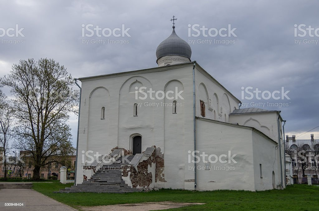 Church of the Assumption on architectural tourist complex Yarosl stock photo