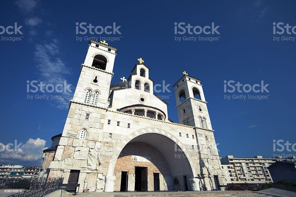 Church of the Chirst's Resurrection in Podgorica, Montenegro stock photo
