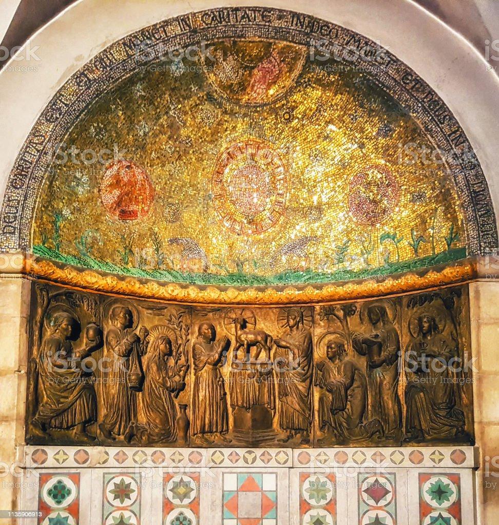 Iglesia de la Abadía de la Dormición en el Monte Zion - foto de stock