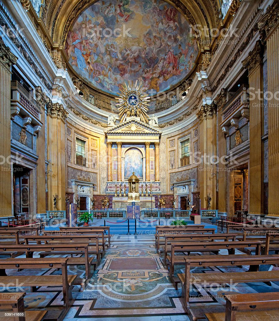 Church of the Gesù (Chiesa del Gesù)2 (Rome, Italy) stock photo
