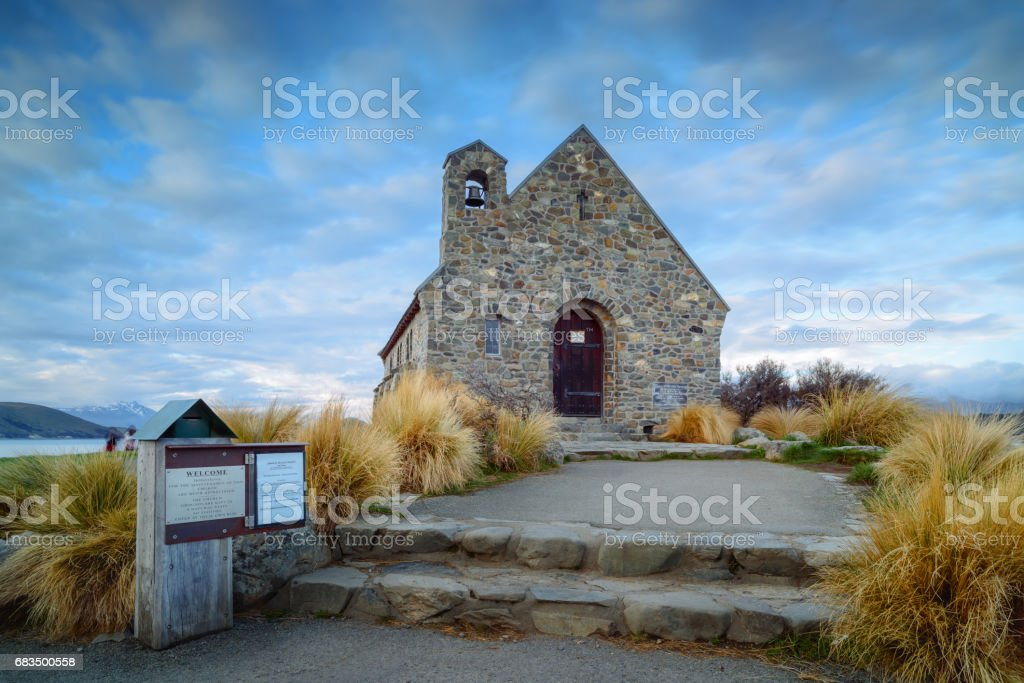 Church of the Good Shepherd built since 1935, Lake Tekapo, stock photo