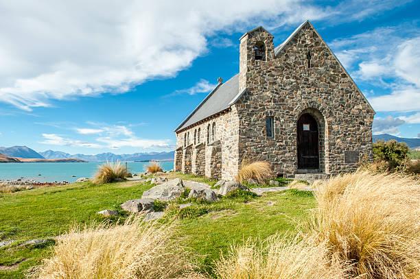 Church of the Good Shepherd, Lake Tekapo, New Zealand stock photo