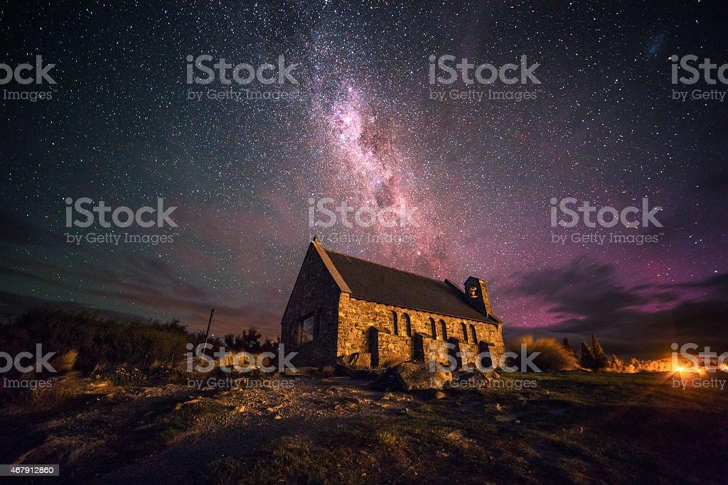 Church of the Good Shepherd stock photo