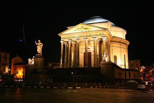 Church of the Gran Madre di Dio in Turin, Italy