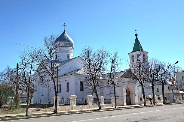 Church of the great Martyr Demetrios Solunskiy. Veliky Novgorod, Russia stock photo