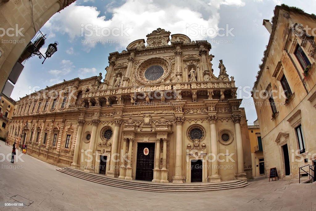 Church of the Holy Cross, Lecce, Apulia, Italy stock photo