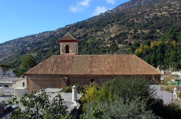 Church of the Holy Cross, Pampaneira, Granada, Spain stock photo