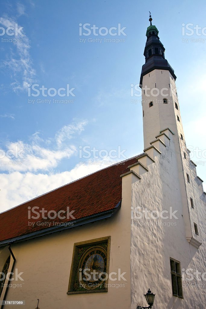 Church of the Holy Ghost in Tallinn stock photo