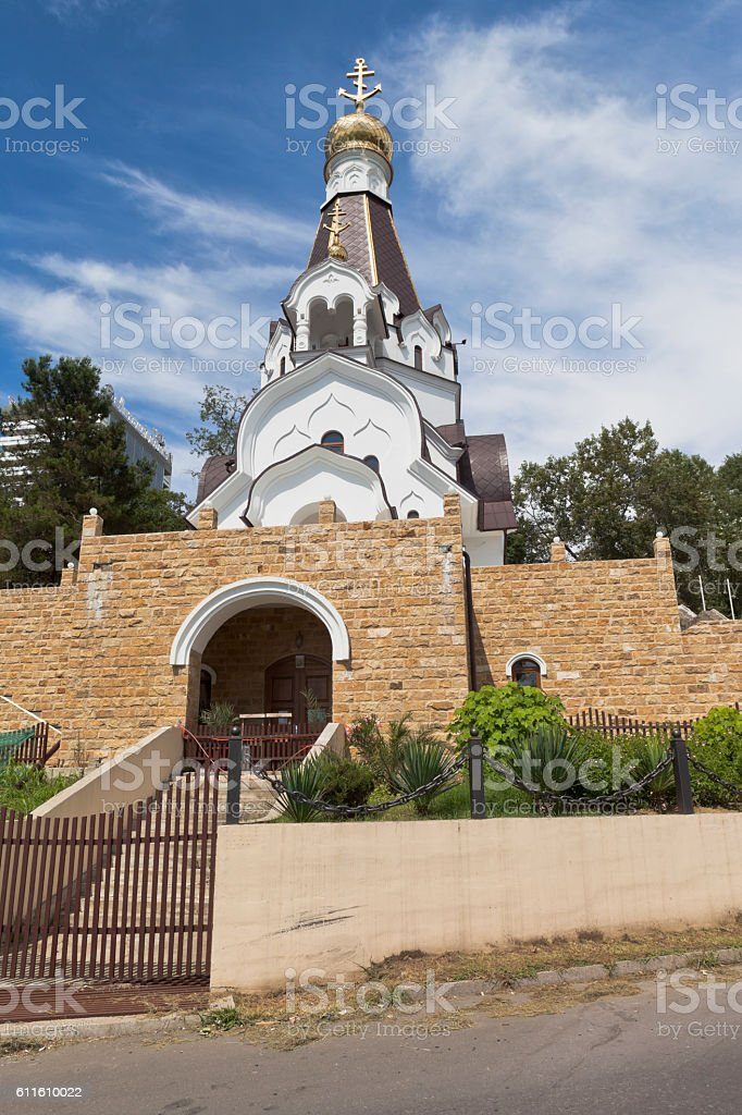 Church of the Holy Righteous Warrior Fedor Ushakov in Sochi stock photo