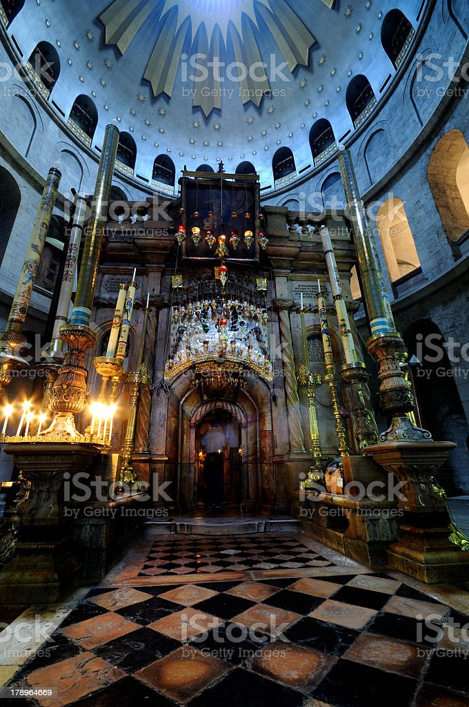 Church of the Holy Sepulchre, Edicule stock photo